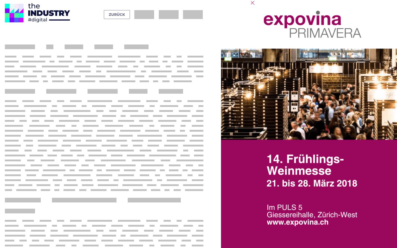 Das Bild zeigt eine Sitebar Creation Wide der Expovina
