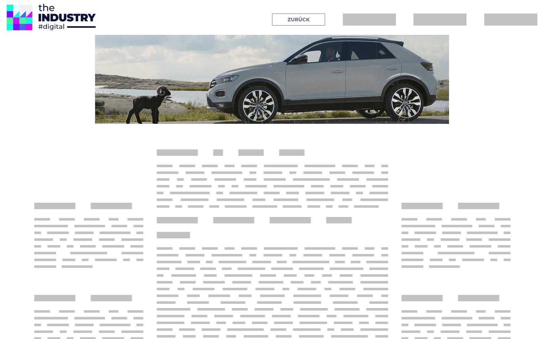 Das Bild zeigt ein Wideboard AD Full Video von VW