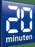 Das Bild zeigt das Logo von 20min