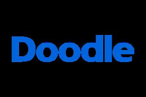 Das Bild zeigt das Logo von Doodle