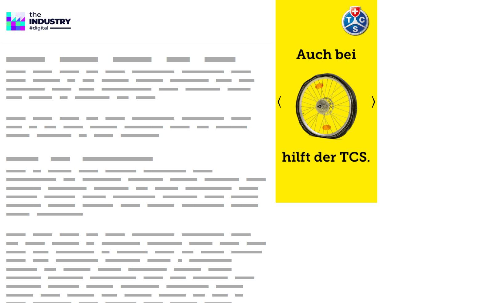 Das Bild zeigt ein Halfpage AD Cube von TCS.