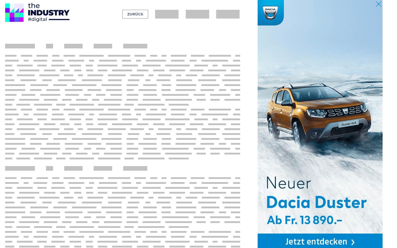 Bild zeigt eine Sitebar Parallax Fade In von Dacia