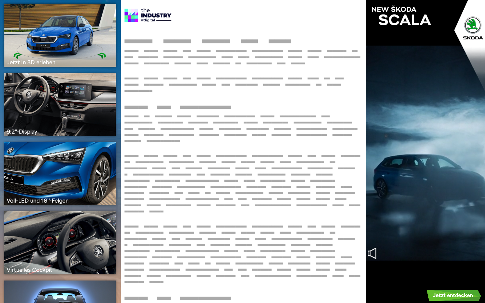Das Bild zeigt die Sitebar Double Dynamic von Skoda