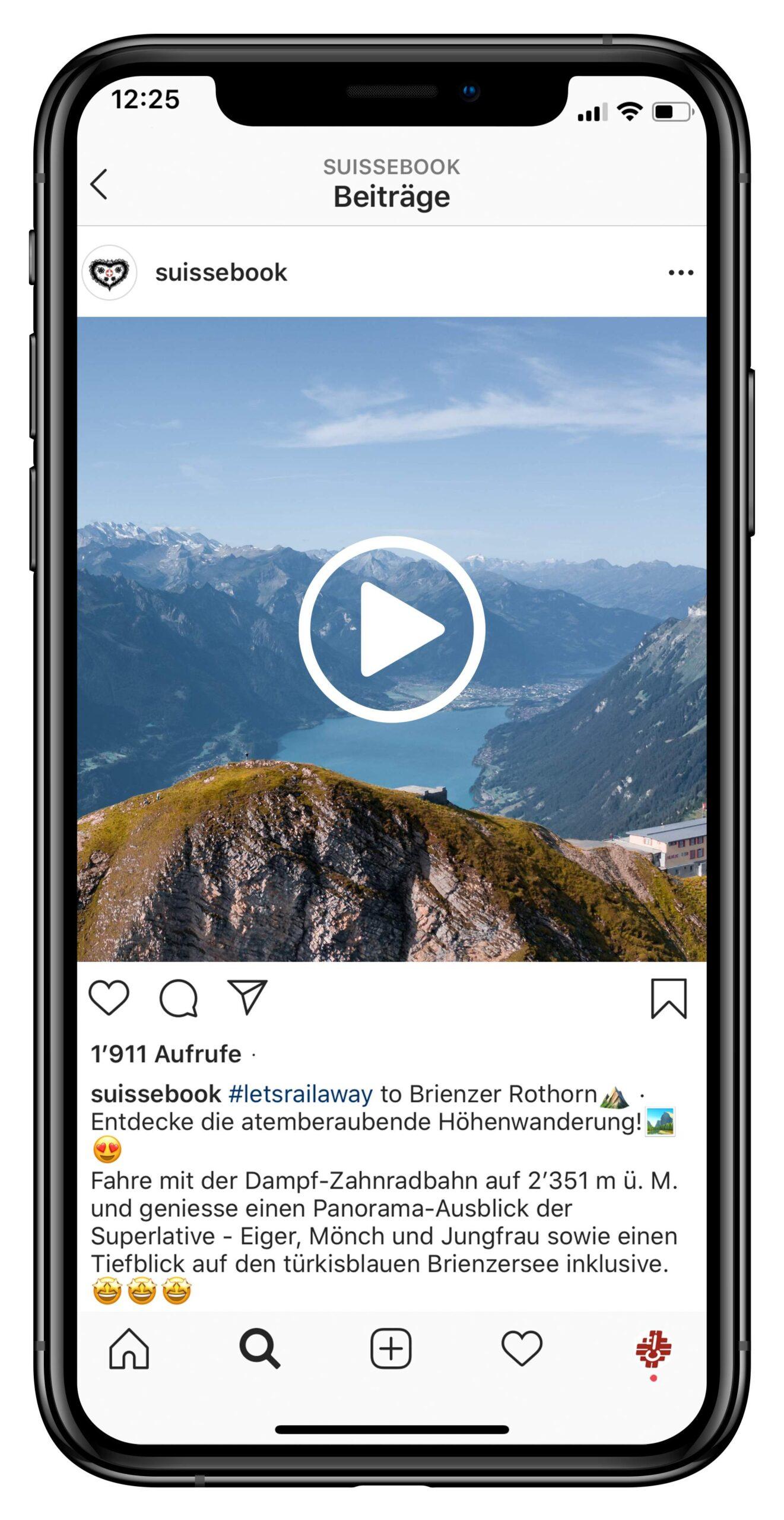 Das Bild zeigt ein Instagram Post