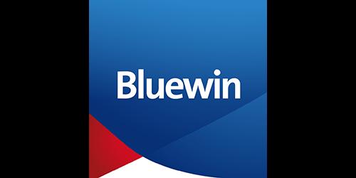 Das Bild zeigt das Logo von Bluewin