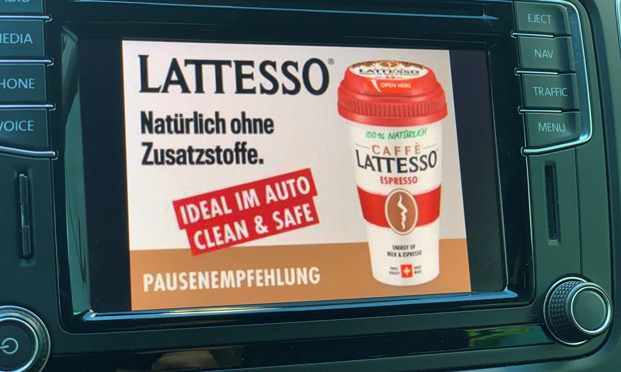 Display Ads Kampagne von Lattesso